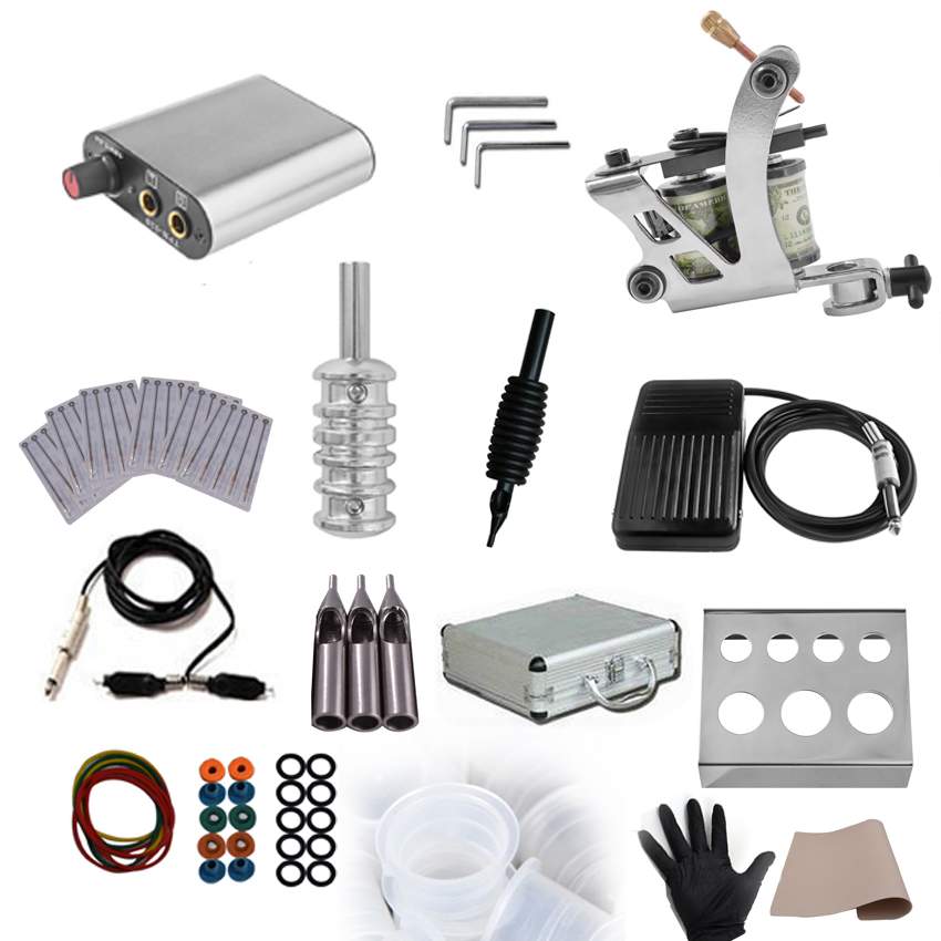 Microblading Tattoo Power Supply Rotary Machine Gun Kit for Permanent Makeup Body Art Shader Liner Foot Pedal Needles Supply Set makeup tattoo machine gun rotary motor gun alloy shader liner permanent makeup assorted tattoo kit for power supply foot pedal