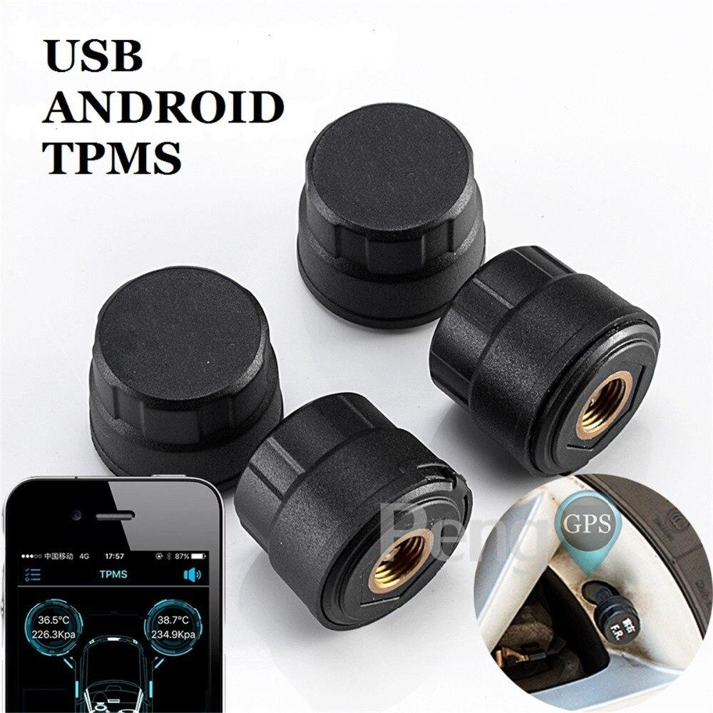 TPMS für Android AUTO DVD Player GPS Navigation Auto Tire Pressure Monitoring System mit 4 Interne Reifen Sensoren Usb-schnittstelle