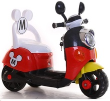 Free shipping 75DAYS Three colors Mickey Child ride on electric toy motorcycle bike For 1-5 years old age baby