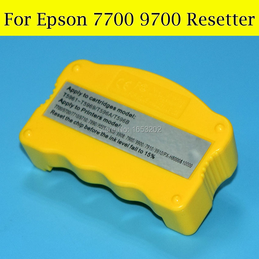 1 PC T596 Chip Resetter For Epson T5961-T5964/T5968 Original Ink Cartridge Compatible For Epson 7700 9700 Printer cs dx18 universal chip resetter for samsung for xerox for sharp toner cartridge chip and drum chip no software limitation