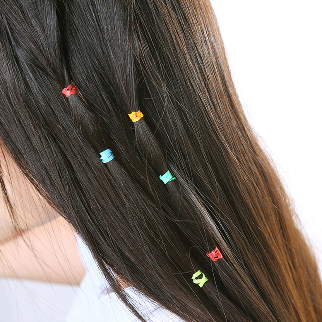 300Pcs Elastic Hair Bands Rope Ponytail Rubber Tpu Hair Holders Ties Braids Plaits Hairwear Hair Accessory for Women Girls