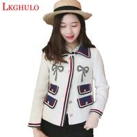 2018 Women High quality Coats Fashion Elegant Vintage Tweed Winter Casual Formal Woolen Overcoat Coat Winter Jacket Women W485