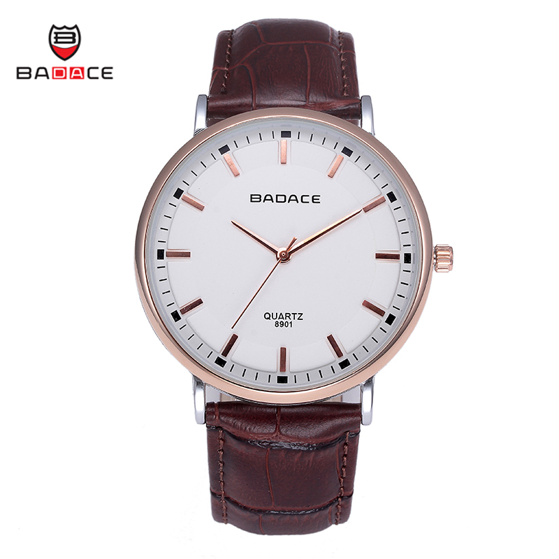 New Brand Badace Classic Fashion Men s Business Watches Japan Movt Quartz Genuine Leather Strap Wristwatch