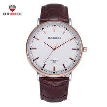 New Brand Badace Classic Fashion Men's Business Watches Japan Movt Quartz Genuine Leather Strap Wristwatch Male Waterproof