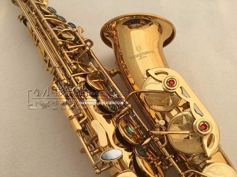 De haute qualité Japon Yanagisawa Électrophorèse Or Saxophone Alto Eb Sax A-992 Professionnel En Laiton Instruments + livraison porte-parole