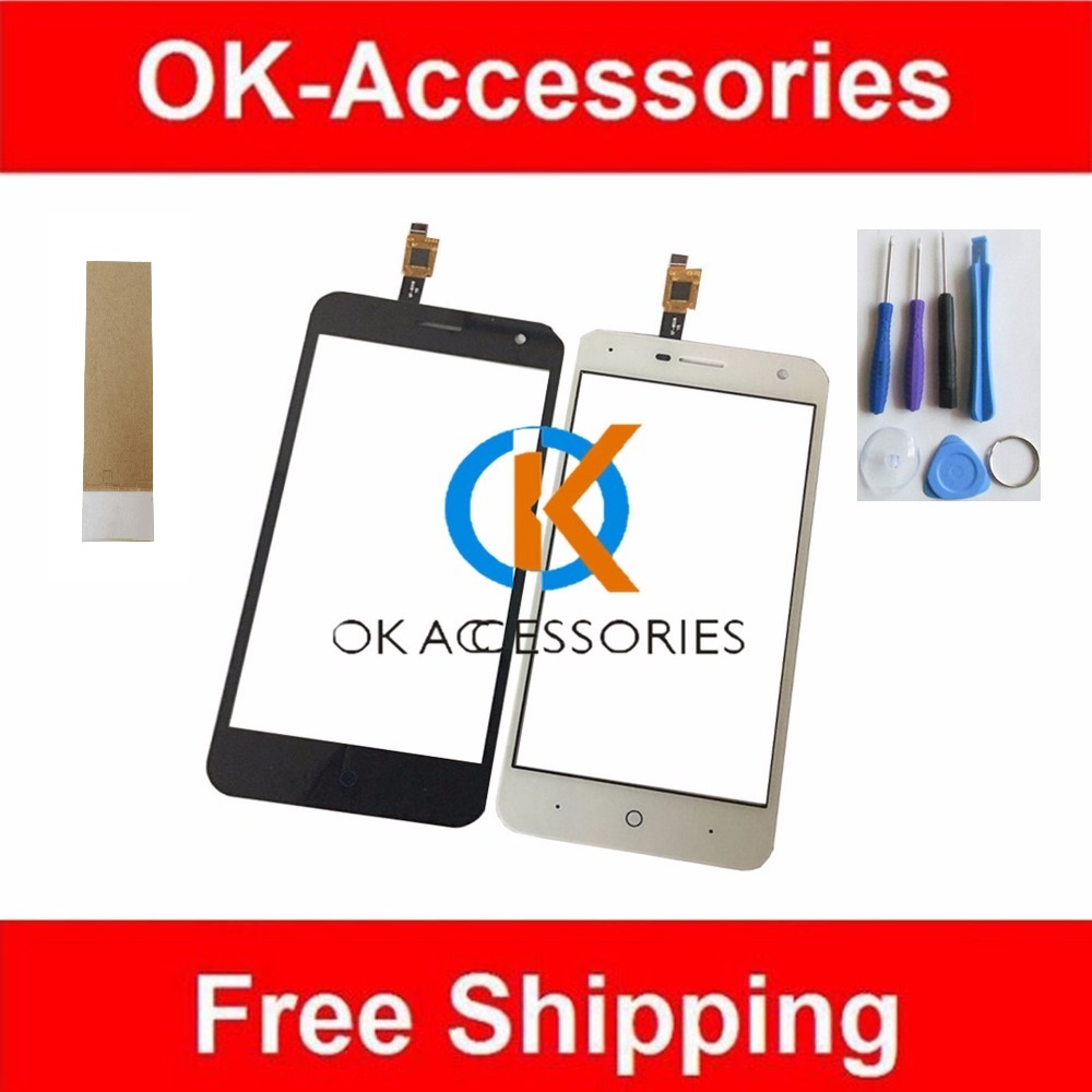 100 Guarantee Black White Color 5 Inches For ZTE Blade A465 Touch Screen Digitizer 1PC Lot