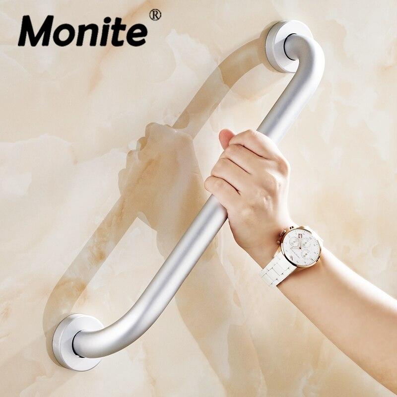 Free Shipping Aluminum Space Bathroom Disabled Handrail Handrest Bathroom Accessary Care for Elders 30/40/50 CM Handle Grab Bars