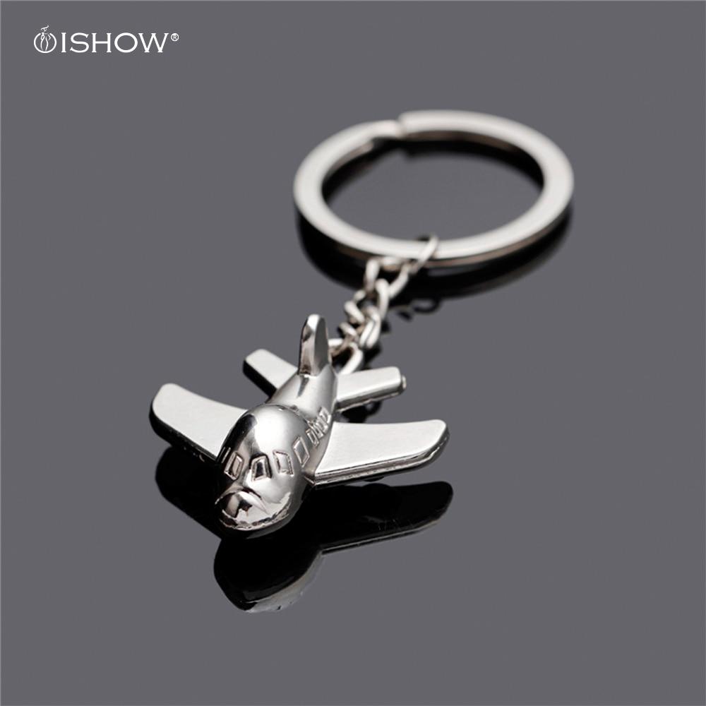 Hot selling creative fashion airplane model keychain metal car keyring llaveros hombre bag charm key chain porte clef chaveiro