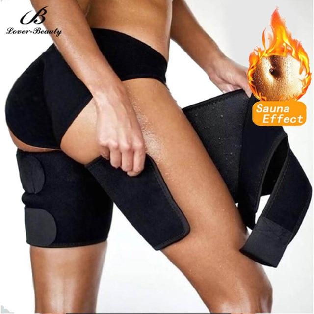 Lover Beauty Leg Shaper Sauna Sweat Thigh Trimmers  (2 Packs) Warmer Slender Slimming Wraps Legs Thermo Neoprene Compress Belt