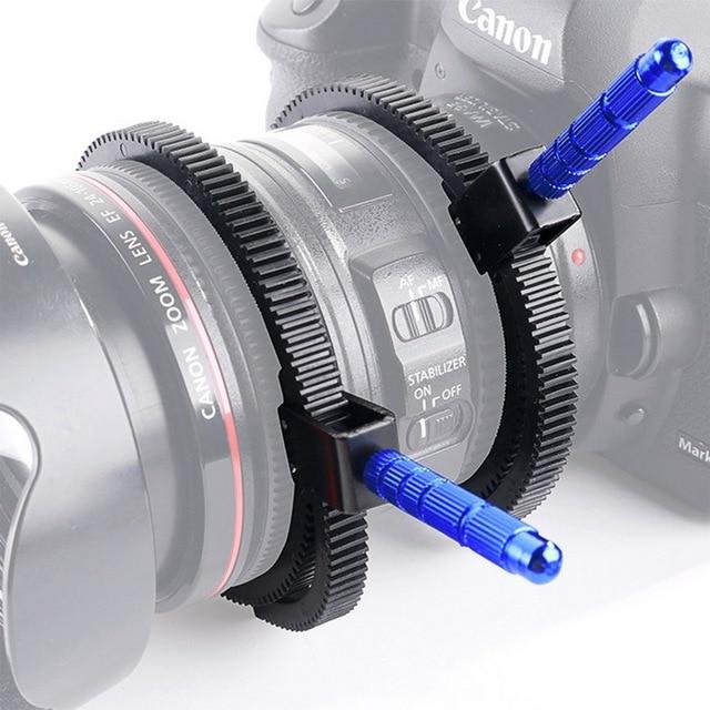 1pc For SLR DSLR Camera Accessories Adjustable Rubber Follow Focus Gear Ring Belt 49mm to 82mm Grip for DSLR Camcorder Camera