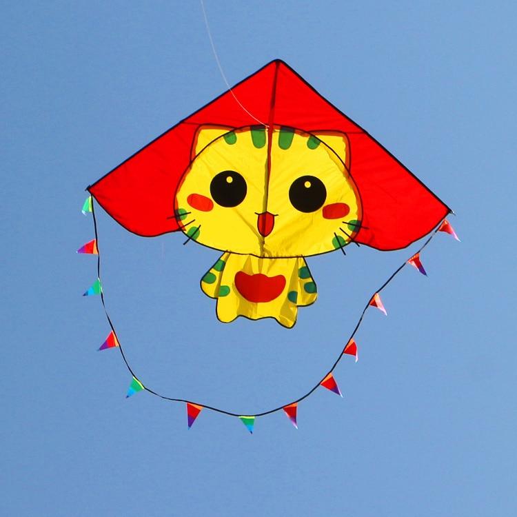 gratis forsendelse af høj kvalitet CC katte kite med håndtag linje ripstop nylon stof kite weifang kite fabrik hcxkite animal kite