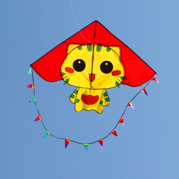 free shipping high quality CC cats kite with handle line ripstop nylon fabric kite weifang kite factory hcxkite animal kite