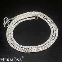 3mm Width HERMOSA JEWELRY 925 Silver Chain Necklace Sterling Silver Choker 55mm Long Hot Sale Style
