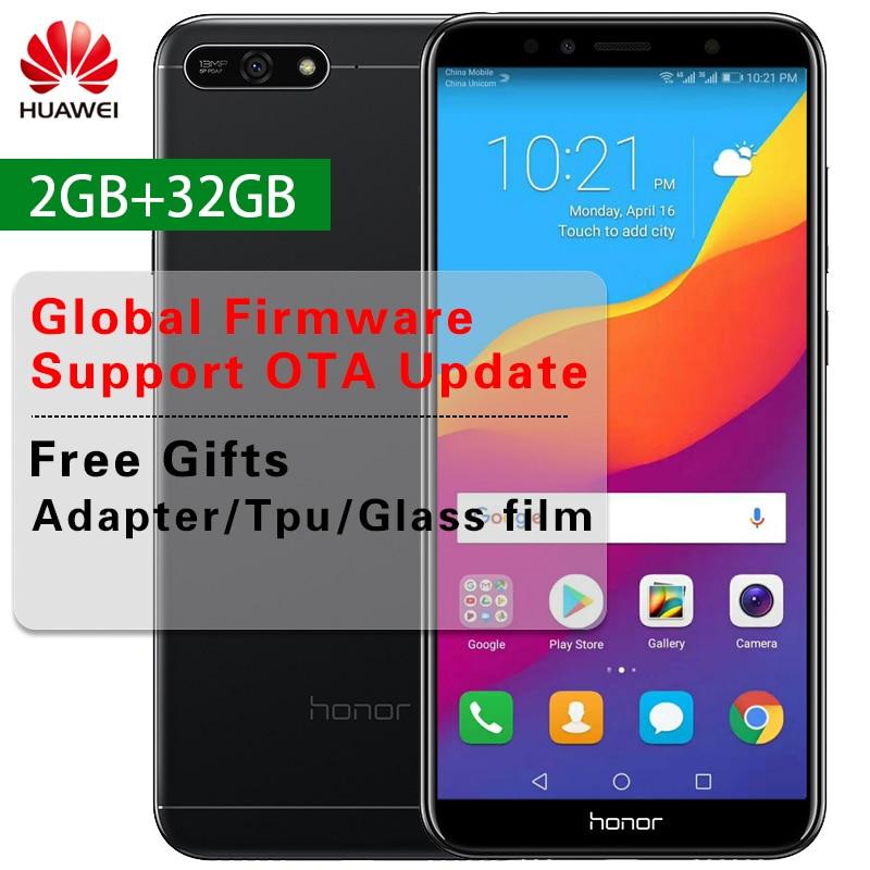 """Huawei Honor 7A Глобальный прошивки Octa Core мобильный телефон 5,7 """"1440*720 P Snapdragon 430 Dual SIM Android смартфон с отпечатками пальцев 8,0"""