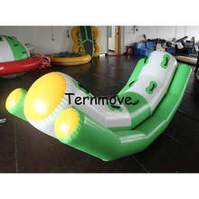 inflatable water seesaw for pool rocker for water sports water totter single line double lines seesaw