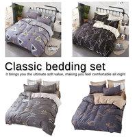 4pcs/set cover set Pastoral bed sheet Classic bedding set flower bed linen duvet AB side duvet cover