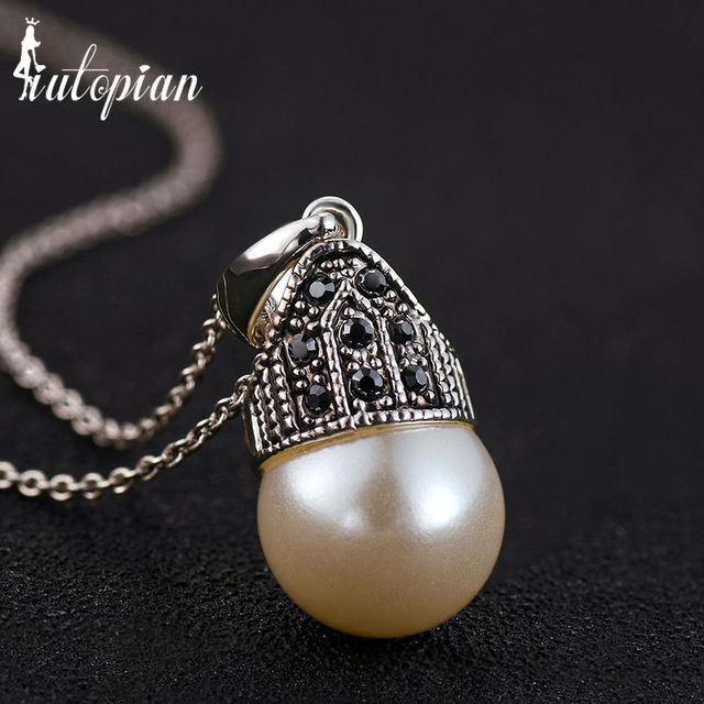 Iutopian 2016 new arrival vintage simulated pearl pendant necklace iutopian 2016 new arrival vintage simulated pearl pendant necklace top quality retro jewelry gift anti allergy mozeypictures Gallery