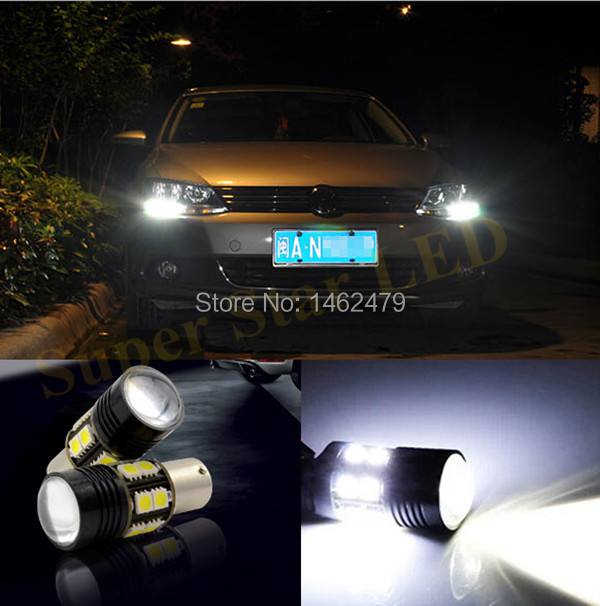 2 x 1156 For CREE Chips  No Error Car LED Bulbs Daytime Running Lights Bulb  For VW Volkswagen Jetta MK6 Scirocco Sharan SEAT wljh 2x canbus led 20w 1156 ba15s p21w s25 bulb 4014smd car lamp drl daytime running light for volkswagen vw t5 t6 transporter