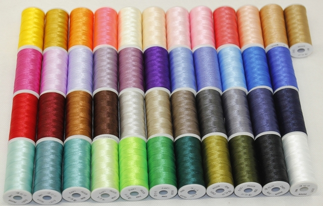 45 Spools Gutermann 100 Polyester Sewing Threads Embroidery Thread