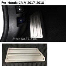 Крышка автомобиля из алюминиевого сплава для ног газ/бензин/масла тормозной Отдых лампа Отделка 1 шт. для Honda CRV CR-V 2017 2018