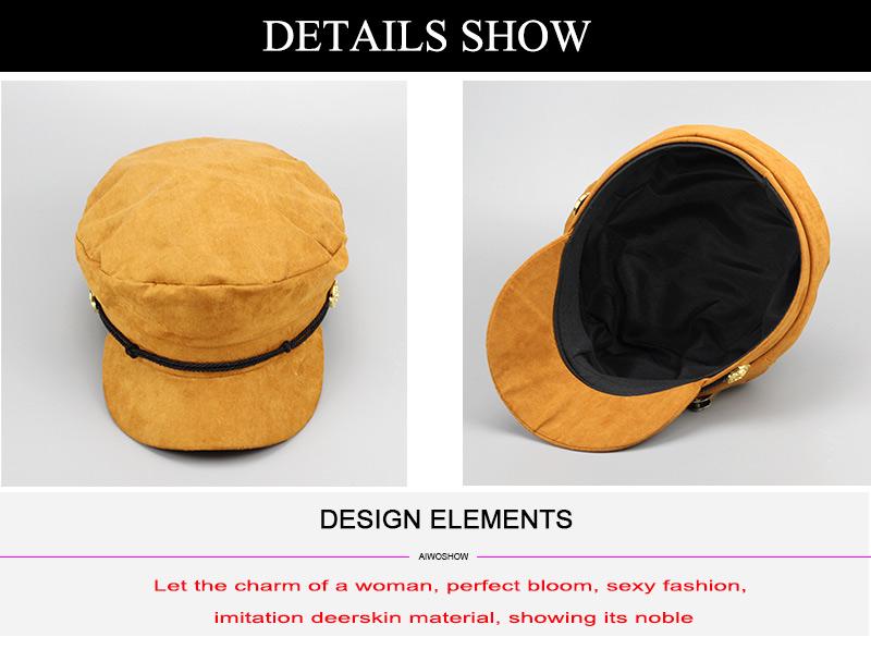 17 Autumn Octagonal Hats Flat Cap For Women Newsboy Beret Hat Female Fashion Metal Button England Style Octagonal Cap 7