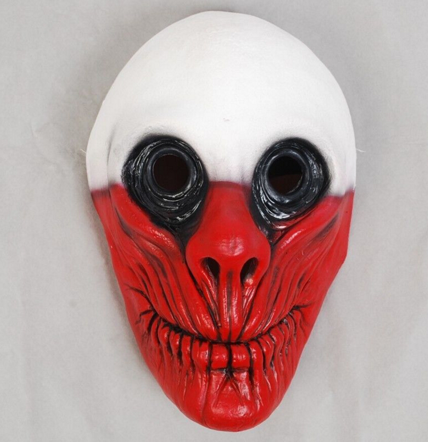PAYDAY 2 Cosplay Mask Heist Wolf /Chains/Hoxton Masks Clown Joker Face Helmet Halloween Horror Masks Carnival Masquerade Props