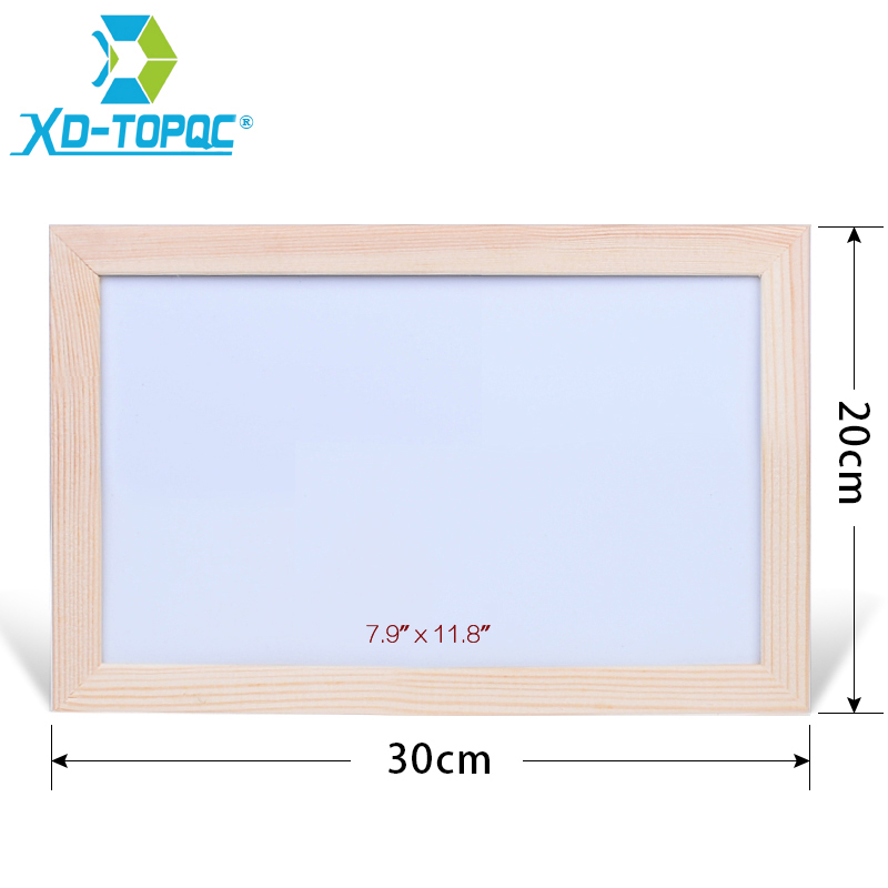 XINDI 20*30cm Dry Erase Whiteboard Original Pine Wood Frame White Board Magnetic Writing Message Board Free Accessories WB40 dry wipe magnetic 20 30cm whiteboard imitation aluminium plastic frame double sided white memo board wood easel free gift pw01
