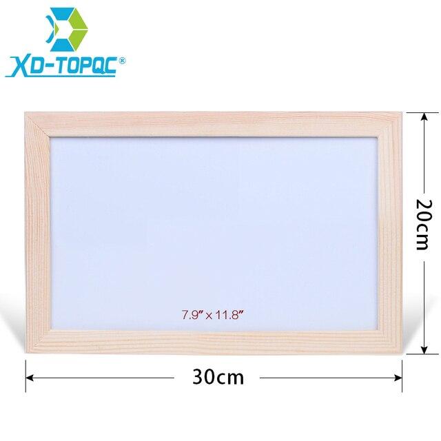 Xindi 2030cm Dry Erase Whiteboard Original Pine Wood Frame White