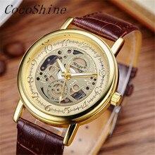 CocoShine A-829 Luxury мужская водонепроницаемый двусторонняя полые механические часы мужской деловой случай оптовая Бесплатная доставка