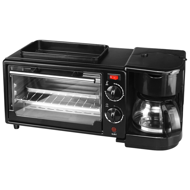 все цены на Multi-function Household Electric Toaster Home Toast Breakfast Machine Automatic Toaster Frying Coffee Pot One онлайн