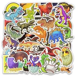 Image 2 - 50pcs/Set Animal Dinosaur Stickers Toys Children Waterproof Stickers To DIY Sticker on Laptop Skateboard Luggage Stickers