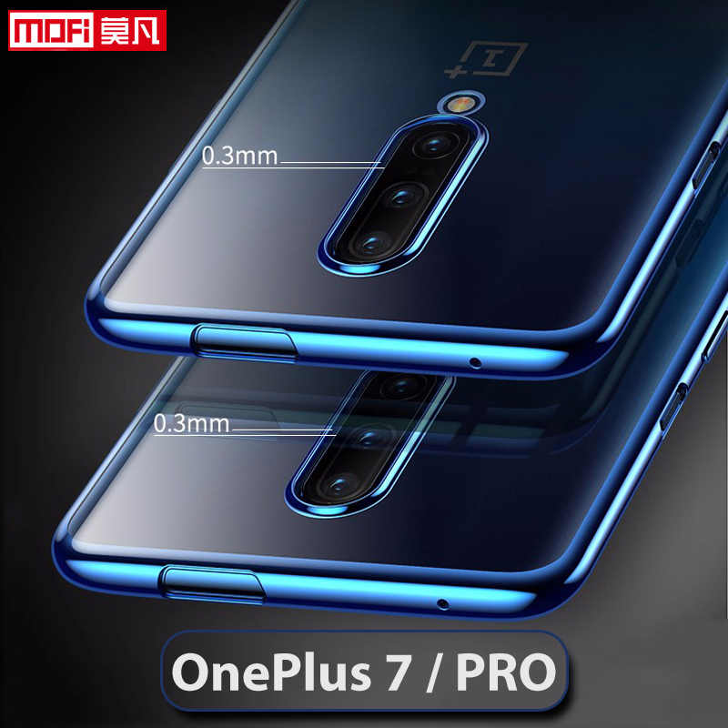 Image 2 - Case For OnePlus 7 Pro Cover transparent oneplus 7 case clear soft back tpu ultra thin silicone backmofi oneplus 7 case-in Fitted Cases from Cellphones & Telecommunications