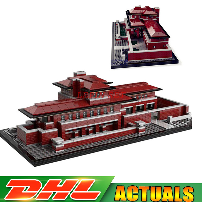 IN STOCK LEPIN 17007 2326Pcs Genuine Architecture Series The Robie House Set Educational Building Blocks Bricks Toys Model 21010 lepin 17007 in stock 2326pcs genuine architecture series the robie house set educational building blocks bricks toys model 21010
