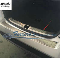 Free shipping car styling stickers for 2015 2017 Toyota Prius stainless Steel inside Rear Bumper trim accessories