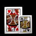 Jin huo 45*30cm high quality pvc material QK Jombo bicycle Three Card Monte magic tricks-5pcs/lot for magic card wholesales