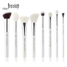 Jessup Pearl White/Silver Professional Makeup Brushes Set Make up Brush