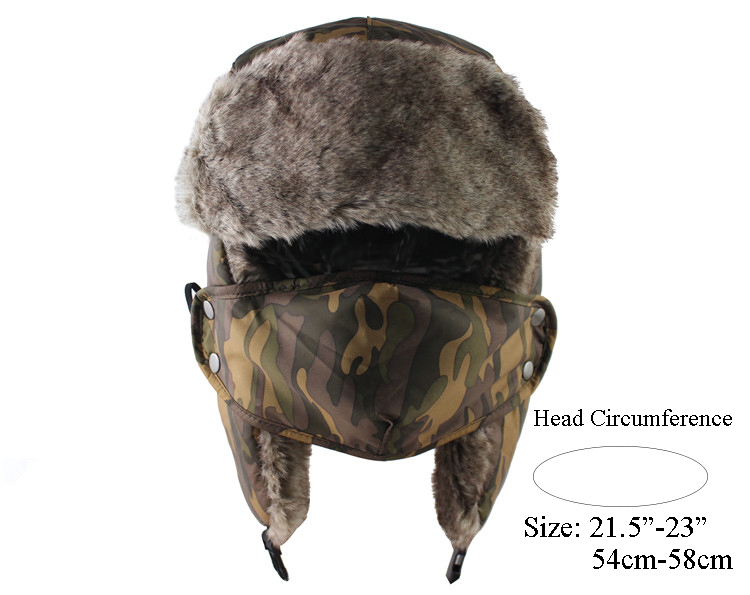 CAMOLAND Winter Men Women Trapper Trooper Hat Bomber Hat With Ear ... 5eb56b67e