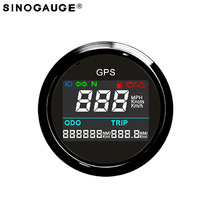 2018 New arrival Free Shipping 52mm Motorcycle digital LCD GPS Speedometer Digital Multi-indicators 0~999 MPH, Knots, Km/h
