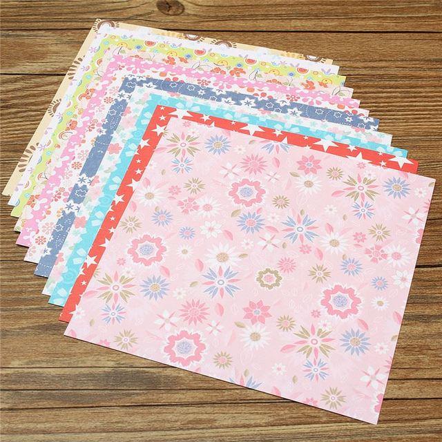 72 Sheets Floral Pattern DIY Kids Origami Paper Scrapbooking Decoration Background Handmake Crafts