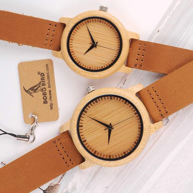 BOBO BIRD Brand Design Women Wooden Bamboo Watch Leather Strap Quartz Watches for Women Drop Shipping 1