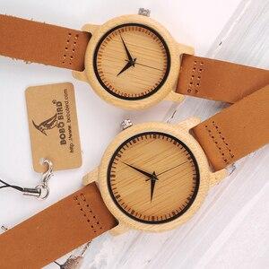 Image 2 - BOBO BIRD ออกแบบแบรนด์ผู้หญิงไม้ไผ่นาฬิกาหนังควอตซ์นาฬิกาสำหรับผู้หญิง Drop Shipping