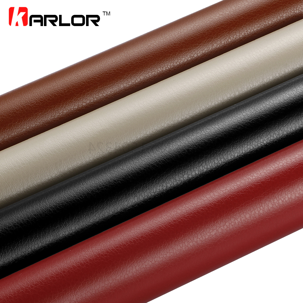 30x100cm Leather Pattern PVC Adhesive Vinyl Film Stickers Waterproof Decoration Change Color Decal Vinyl Wrap For Car Motorcycle