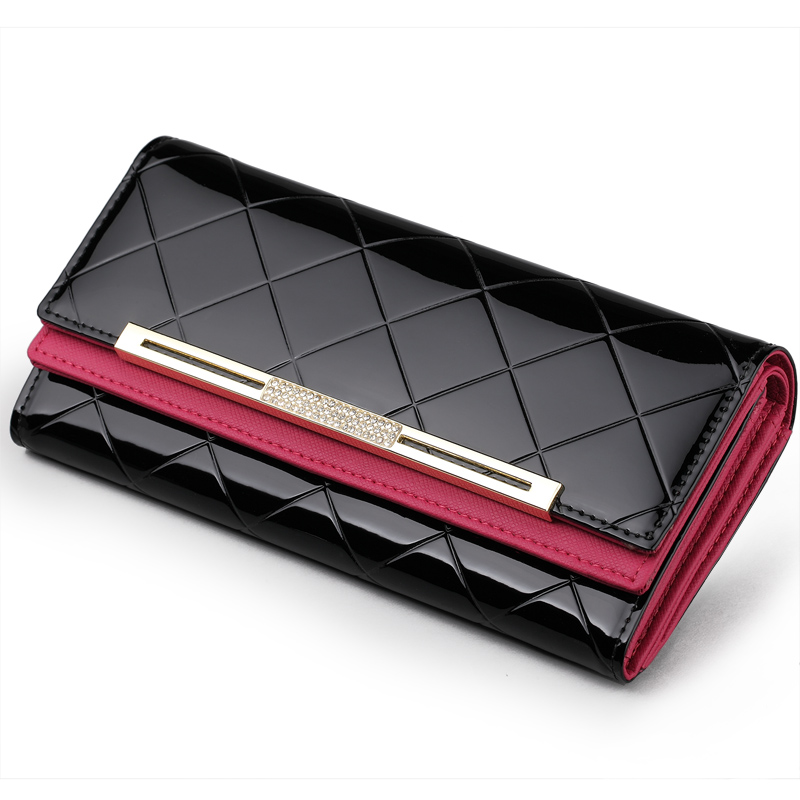 new women coin holders Lady Long  Clutch Patent Leather  Large Capacity Woman Wallet Brand Purse Card Holder  vintage Designers фильтр для воды новая вода od310