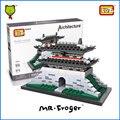 Mr. Froger Sungnyemun LOZ Mini Bloques Mundo Famosa Serie de La Arquitectura Clásica colección de Juguetes de Los Niños Modelo de la casa de piezas Pequeñas