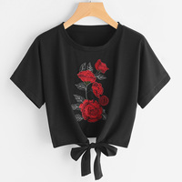 2017 Summer T Shirt Women Casual Lady Top Tees Cotton Tshirt Female Brand Clothing T Shirt