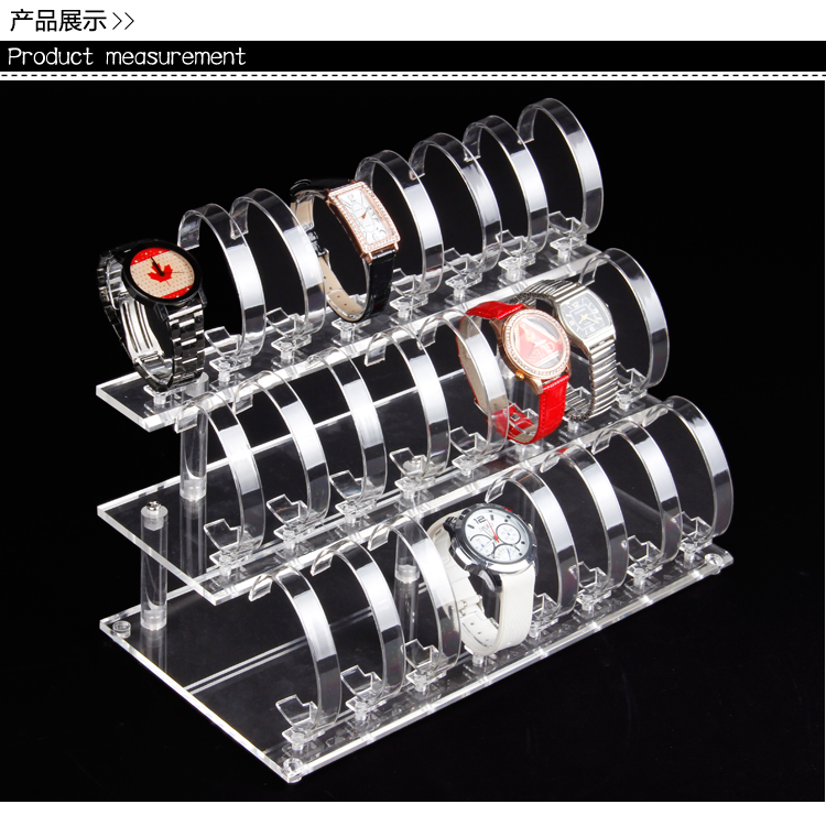 24-slot Clear-View Wrist Watch Display Stand Holder Rack Tabletop show stand decoration organizer