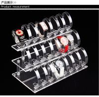 24 slot Clear View Wrist Watch Display Stand Holder Rack Tabletop show stand decoration organizer