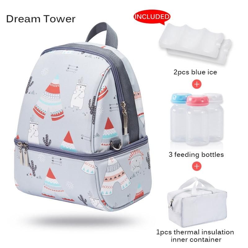 Lait alimentaire stockage thermique sac réchauffeur boîte bébé biberon thermique garde boissons Cool sac à dos momie sacs à couches