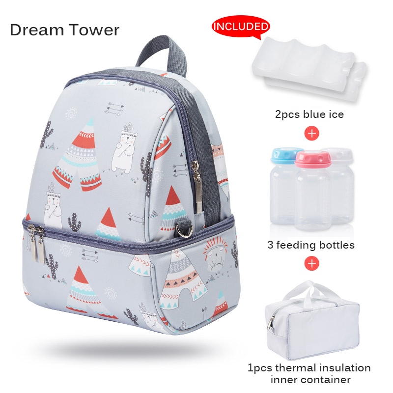 Milk Food Storage Thermal Bag Warmer Box Baby Feeding Bottle Thermal Keeps Drinks Cool Backpack Mummy Bags Diaper Bags