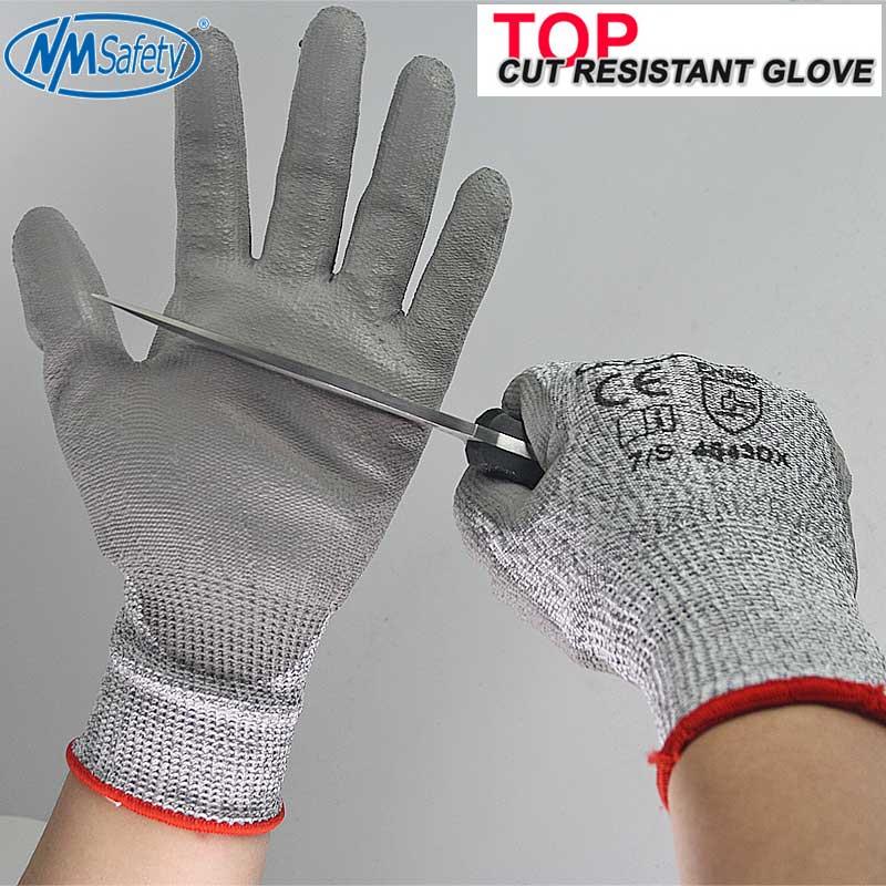 4 pary Odporne na przecięcie ochronne rękawice robocze z HPPE Fibre - Bezpieczeństwo i ochrona - Zdjęcie 3